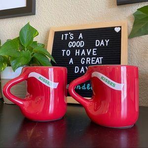 Hidden Kisses Hershey's mugs fitz and Floyd set 2